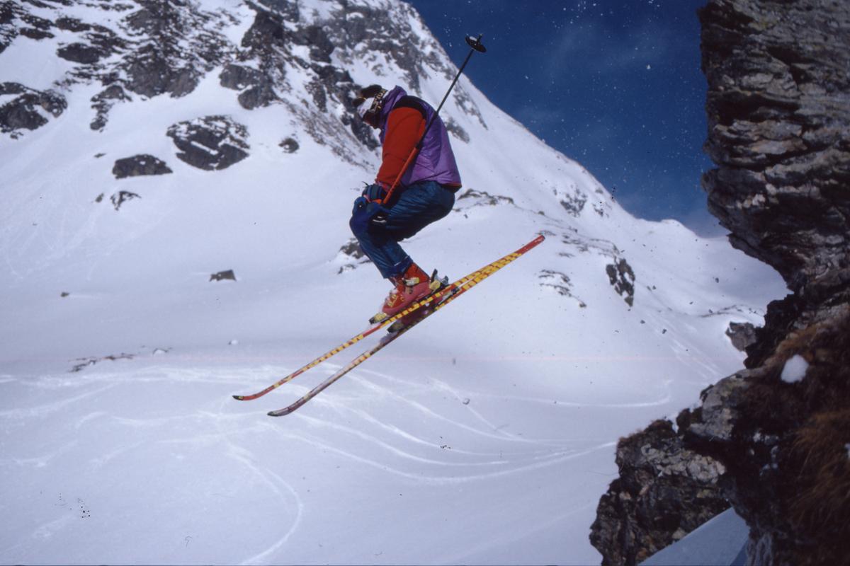 extremskifahrer im wallis