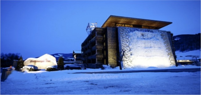 Eisklettern im Hotel